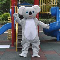 Wholesale Mascot Animal Costume Koala - New Hot Gray Koala Halloween capacity doll Mascot Costume For adults Animal Mascots For Kid's Birthday Party For Sale