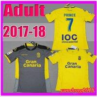 Wholesale Prince Homes - top Thai quality 2017 2018 Las Palmas Jersey Soccer shirt 17 18 UD Las Palmas Home Yellow PRINCE JESE VALERON away Football camiseta futbol