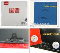 синяя губчатая резина оптовых-[оригинальная гарантия, код безопасности внутри, D39, 40, 41] DHS National Hurricane 3 Table Tennis Rubber черная резина с синей губкой