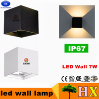 Wholesale Dimmable Led Wall - 8W Dimmable COB IP65 cube adjustable surface mounted outdoor LED lightig sconces LED indoor wall light up down LED wall lamp