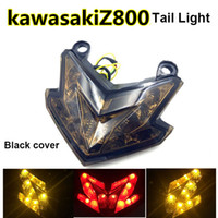 Wholesale Integrated Turn Signal Tail Light - Integrated LED Tail Light Turn Signals Brake Light For Kawasaki Z800 Z125 With Somked Black Clear Red Cover