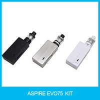 Wholesale Zinc Kits - 100% Original Aspire EVO75 Kit with 2ml Atlantis EVO Tank And TC 75W NX75 Mod W O Battery Zinc Alloy Material Kit 10pcs