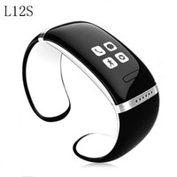 Wholesale l12s smart watch resale online - New Smart Wristband L12S OLED Bluetooth Bracelet Wrist Watch Design For IOS Android Phones Wearable Electronic Bracelet