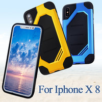 Wholesale Hybrid Cooling - Cool Phone Case For IPhone X 8 7 6 Plus 6S Samsung Note 8 S7 S6 Edge S8 Plus Hybrid TPU+PC Cellphone Cases