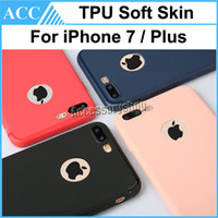 Wholesale Dustproof Plug Iphone - For iPhone 7 Plus Frosted Matte Ultra Thin TPU Soft Skin iPhone Case Fingerprint-Proof Cover Dustproof Plug Candy Color For iPhone7 Plus