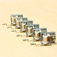 Wholesale music box movement - 1PCS Mechanical Musical Music Box Movement Craft DIY Accessories Hand Crank 6 TuneS