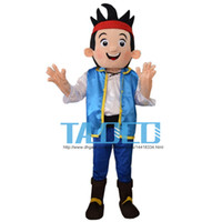 Wholesale Mascot Costumes Jake - Hot Jake Mascot Costume Neverland Narrowly Pirate Carnival Dress Adult Free Shipping