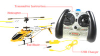 Wholesale Alloy R C Helicopter - Syma 3.5CH Rc Helicopter Remote Control Hexacopter Radio Control Metal S107G alloy fuselage R C Helicoptero with gyro