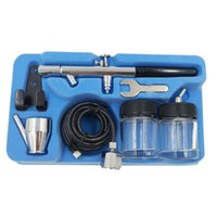 Wholesale Spray Dual Action Airbrush Gun - New Arrival BT-128 22CC Precision Dual-Action Siphon Feed Airbrush Kit with 5ft Airbrush Hose Free Shipping