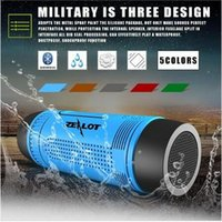 Wholesale Power Speaker Rechargeable - Zealot S1 Bluetooth Speaker Portable Subwoofer Power Bank Rechargeable with LED light for Outdoor Sport+Bicycle Mounting Bracket five colors