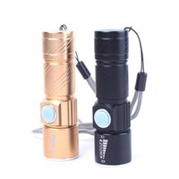 Wholesale 2000 lm Q5 LED torch super bright LED waterproof tactical USB rechargeable flashlight to zoom adjustable brand new