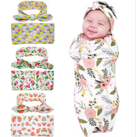 Wholesale Champagne Prop - Boys Girls Baby Childrens Clothing Sets Baby Blankets Swaddling Rabbit Ears Headbands Set Baby Photography Props Newborn Robes 2 Piece Set