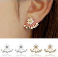 Wholesale Cute Korean Silver Jewelry - Hot Delicate Women Cute Ladies Daisy Flower Ear Stud Fashion Girls Earrings Korean Style Jewelry Accessories