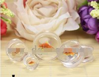 Wholesale Body Jewelry Fish - drop shipping 64 pcs fish design transport acrylic new ear gauges piercing body jewelry saddle plugs earrings 10-26mm diy jelwery hot sale
