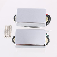 Barato Humbucker Duplo-2PCS Sealed Double Coil Humbucker Pickups para Les Paul Guitar Chrome DLP