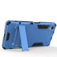 Wholesale E5 Case - FOR SONY Xperia X XA XZ X COMPACT E5 XA1 XZ1 Hybrid KickStand Anti Shock Defender Armor Case TPU+PC cover 50pcs lo