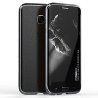Wholesale Leather Aluminum Frame Bumper Case - Original Luphie Metal Case Aluminum Frame Top Quality Bumper + Leather Back Sitcker for Samsung Galaxy S7 S7 Edge