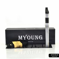 Wholesale Ego Sale Kit Dhl - Hot SALE for Korea Myoung M1 Single kit with 650mah ego battery with led lights 5pin usb charger Ecig Starter kit DHL free