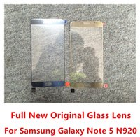 Wholesale Screen Cover Lenses - New Glass Lens For Samsung Galaxy NOTE 5 N920 Full Original Front Outer Glass Cover Free Shipping