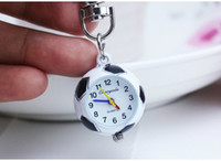 New Fashion Cute Football basquete bola de golfe em forma pequena Quartz Pocket Watch Analog Penderals Quartz Brooch Doctor Nurse Pocket Fob Watch