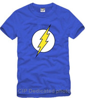 Wholesale Luminous Mens Shirts - The Flash Star Labs Luminous Fluorescent Reflective Printed Mens Men T Shirt Tshirt 2016 New Short Sleeve Cotton T-shirt Tee