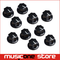 pedal de mando al por mayor-10 Unids 6.4mm Shaft Guitar Effects Pedal Pointer Knob 1/4
