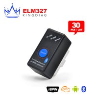 Compra Interruttore Di Alimentazione Bluetooth Elm327-Wholesale-30PCS / Lot DHL mini ELM327 Bluetooth con interruttore di alimentazione CAN-BUS di diagnostica scanner funziona su Android Symbian di Windows 327