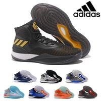 Wholesale Basketball D Rose - 2017 Adidas Originals D Rose 8.0 Basketball Shoes Caliga Cushioning Wear Resistance Competition Boost CQ1618 Athletics Discount Sneakers