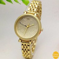Wholesale Ladies Watches Small Dial - Famous M brand 2016 Famous Brand Watches Women Casual Designer Fashion small dial gold wristwatches golden stainless steel lady watch