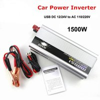 1500W USB Car Charger Car Power Inverter DC 12V / 24V a corrente alternata 110V / 220V Car Power Adapter Converter Transformer onda sinusoidale modificata