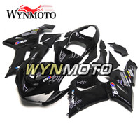 Wholesale Zx6r Frame - Full Fairings for Kawasaki ZX-6R ZX6R 05 06 2005 2006 Gloss Black ABS Plastics Injection Motorcycle Fairing Kit Body Frames Bodywork Hulls