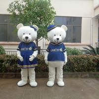 mascotes de urso adulto venda por atacado-Amante adulto urso trajes da mascote vestido extravagante para a festa de boa qualidade frete grátis pode ser personalizado