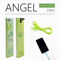 Wholesale Data Sync Cable Long Iphone - 3FT 1M Long Ultra-durable Angel High Speed Micro USB Data Sync Charger Cable Lead For Samsung Galaxy S6 Edge Samsung S7 Edge HUAWEI