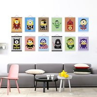 Wholesale Minion Customs - Mild Art Anime Game Minions American Hero Set Custom DIY Cute Funny Pop Cartoon Movie Poster Print Kids Room Home Wall Decor Canvas Painting