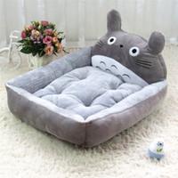 ingrosso grandi cuscini del divano-Cute Animal Large Dog Letti Mats Teddy Pet Cani Divano Pet Cat Bed Per Cani Casa Grande Coperta Cuscino Cestino Forniture S-XL