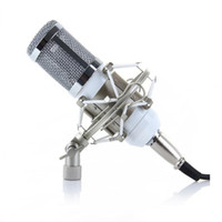 Wholesale Desktop Microphone For Pc - Wholesale New BM-800 Condenser Microphone Sound Recording Microfone With Shock Mount Radio Braodcasting Microphone For Desktop PC bm800