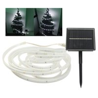 Wholesale LED Solar Tube String Light LEDs Solar Powered Garden Neon Rope Stripe Light