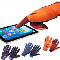 Wholesale Thermal Cycle Gloves - Cycling Anti-slip Touch Screen Ski Snow Full Finger Gloves Mitten Cycling Glove Windproof Winter Thermal Warm Gloves KKA3229
