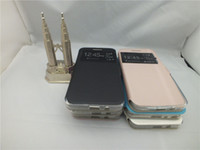 Wholesale Class Stand - View Quick window Leather case for LG K8 V10 Nexus 5X G5 Zero Class H740 G3 G3 Stylus G2 Magna H502 Stand holder inner Soft TPU cover shell