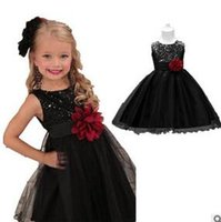 Wholesale Lolita Prom Dresses - Embroidered Flower Girl Dress Kids Pageant Party Wedding Bridesmaid Ball Gown Prom Princess Formal Occassion Long Dress 4-14Y hight quality