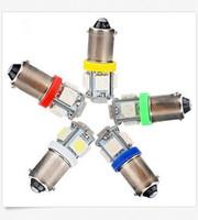 Wholesale Ba9s Led H6w - 100PCS BA9S T11 5SMD 12V 5050 Car LED Light Interior Bulb Lamp T4W 1815 H6W White