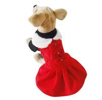 Wholesale Wholesale Designer Winter Jackets - 2016 fashion designer XS-XL red 2design coldkeeper warmly autumn&winter beautiful foldable collar dog pet teddy clothes coat