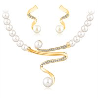 Wholesale gold jewelrys - new jewelry sets 18k gold plated african beads austrian crystal fashion necklace earrings wedding women gift bride girl popular set jewelrys