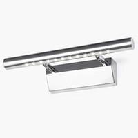 ingrosso lampade luci dell'immagine-Lampada da parete moderna con display a specchio per trucco LED 3W Lampada da comodino in acciaio inox con bagno bianco