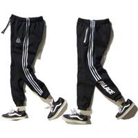 Wholesale Women Warm Pants - PALACE Skateboard Full Length Pants Men Women Fashion Brand Clothing Reflective Zipper Cotton Warm Hip Hop Palace Trousers Homme