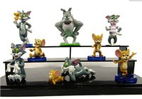 Wholesale Tom Jerry Toy Set - Cute Cartoon Tom and Jerry PVC Action Figure Model Toys Dolls 9pcs set Classic Toys