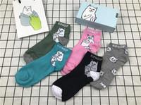 Wholesale Cheap Long Socks - RIPNDIP Socks Fashion Brand Pocket Cats Long Socks Teenager Student Novelty Whimsy Popular Brand Skateboard Socks Stocking Cheap