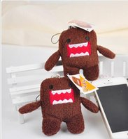 Wholesale Doll Keychain Sale - Cute Domo Kun Keychain Plush Toy Doll 7cm Wholesale Baby Kids Anime Phone Keychain Free Shipping for Kids Baby Xmas Gift Hot Sale