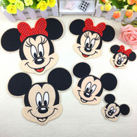 Wholesale Iron Embroidered Patch Minnie - Cartoon Kids Minnie Mickey Iron On Patches Clothes Patches For Clothing Girls Boys Embroidered Pathces
