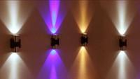 iluminação acolhedora venda por atacado-AC85 ~ 265V 4W CONDUZIU a Luz de parede Arandela Decoração luminária luz com Dispersão Luz Metal Direto Vara Corpo Hall Varanda Lâmpada Quente branco Vermelho ..